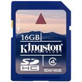 16 GB . SDHC karta Kingston . Class 4 (r/w 4MB/s)