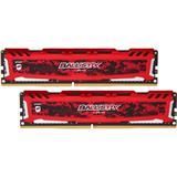 16GB DDR4 3000 MT/s (PC4-24000) CL15 SR x8 Crucial Ballistix Sport UDIMM 288pin, red (2x8GB)