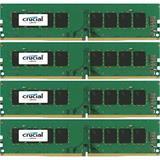 16GB Kit (4GBx4) DDR4 2400 MT/s (PC4-19200) CL17 SR x8 Crucial Unbuffered SODIMM 288pin
