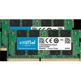 16GB Kit (8GBx2) DDR4 2400 MT/s (PC4-19200) CL19 SR x8 Crucial Unbuffered SODIMM 260pin
