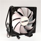 1stCOOL SILENT fan 12cm ventilátor Black/White 3pin/Molex