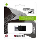 32 GB . USB 3.1 kľúč . Kingston DataTraveler MicroDuo 3 Gen2 + microUSB (Android/OTG)