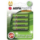 AgfaPhoto nabíjacie NiMH batérie 1.2V, AA, 2300mAh, blister 4ks