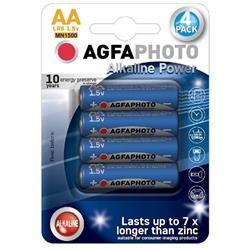 AgfaPhoto Power alkalická batéria 1.5V, LR06/AA, blister 4ks