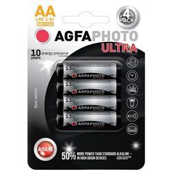 AgfaPhoto Ultra alkalická batéria 1.5V, LR06/AA, blister 4ks