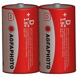 AgfaPhoto zinková batéria 1.5V, R20/D, shrink 2ks