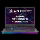 """ASUS ROG Strix G15 G513QE-HN032T AMD R5-5600H 15.6"""" FHD mat 144Hz RTX3050Ti/4GB 8GB 512GB SSD WL BT W10 CS"""