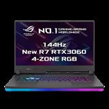 """ASUS ROG Strix G15 G513QM-HN064T AMD R7-5800H 15.6"""" FHD mat 144Hz RTX3060/6GB 16GB 512GB SSD WL BT W10 CS;Eclipse Gray"""