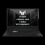 """ASUS TUF Dash F15 FX516PE-HN004T Intel i5-11300H 15.6"""" FHD 144Hz matny RTX3050-4GB 8GB 512GB SSD WL BT W10 CS;sedy"""