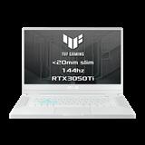 """ASUS TUF Dash F15 FX516PE-HN020T Intel i7-11370H 15.6"""" FHD 144Hz matny RTX3050-4GB 16GB 1TB SSD WL BT W10 CS;biely"""