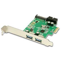 AXAGO PCEU-232V PCIe adaptér 2+2x USB3.0 UASP Charging 3A out VIA + LP
