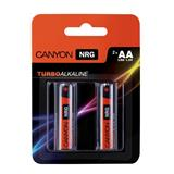 Canyon ALKAA2, alkalické tužkové batérie AA, 2ks/balenie - blister