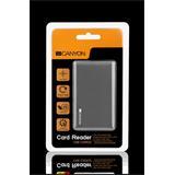 Canyon CNE-CARD2 All-in-1 čítačka kariet, USB2.0, externá , štíhla, šedá
