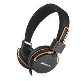 Canyon CNE-CHP2, slúchadlá na uši / headset s integrovaným mikrofónom, skladacie, čierne