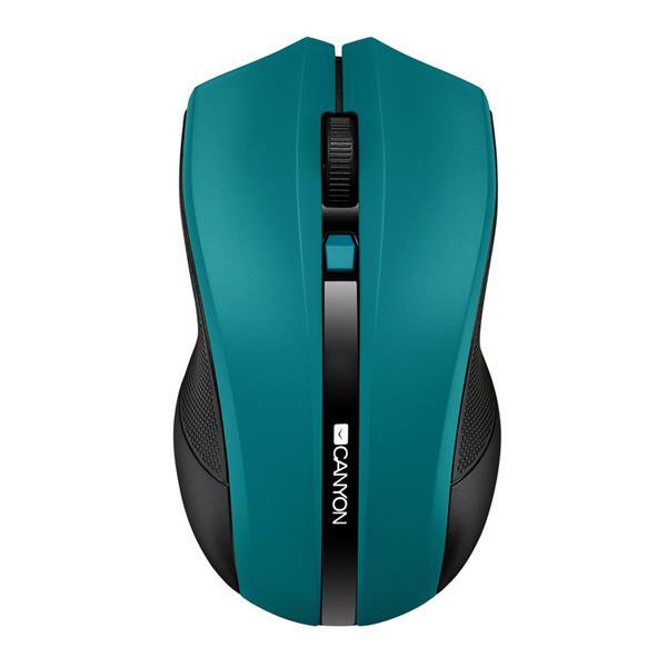 Canyon CNE-CMSW05G, Wireless optická myš USB, 800/1200/1600 dpi, 4 tlač, zelená