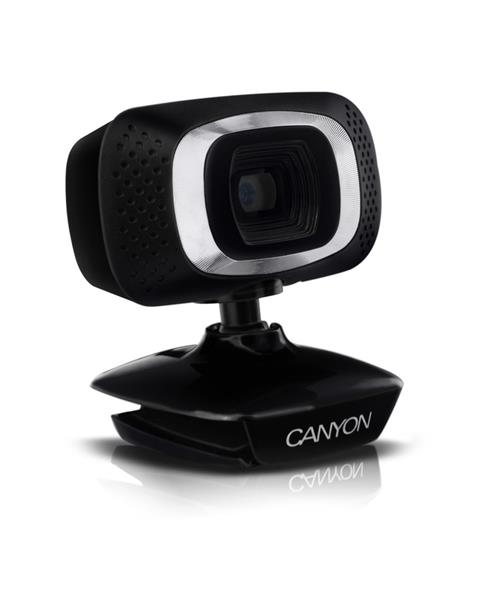 Canyon CNE-CWC3N webkamera, HD 720p, 1Mpx, USB, mikrofón, 360° rozsah