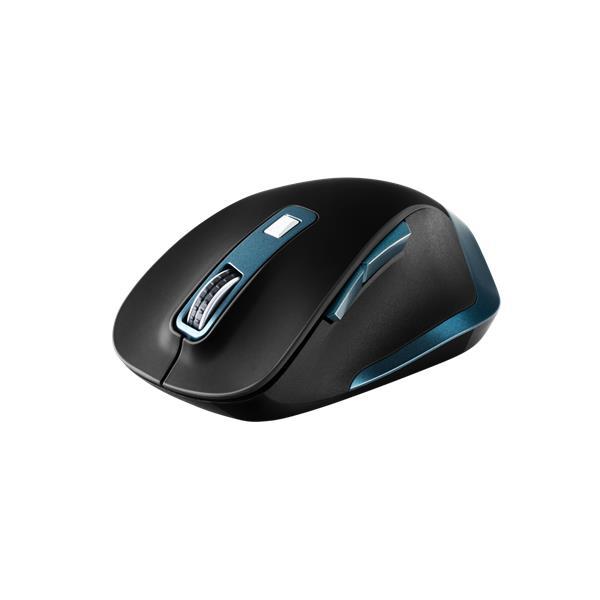 Canyon CNS-CMSW14DG, Wireless optická myš USB, herný senzor, 800/1200/1600/2000/2400 dpi, modro-čierna, zlý EAN štítok