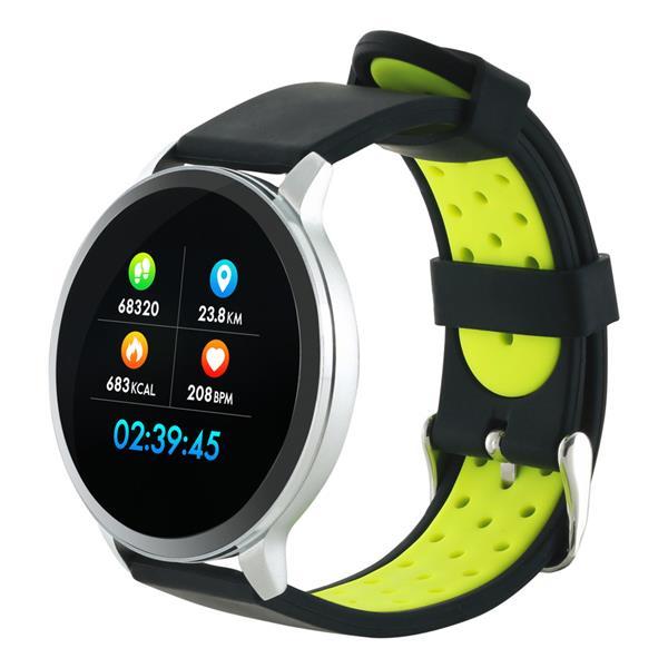 Canyon CNS-SW71SS smart hodinky, Bluetooth, farebný LCD displej 1.22´´, vodotesné IP 68, multišport režim, 2 náramky: st