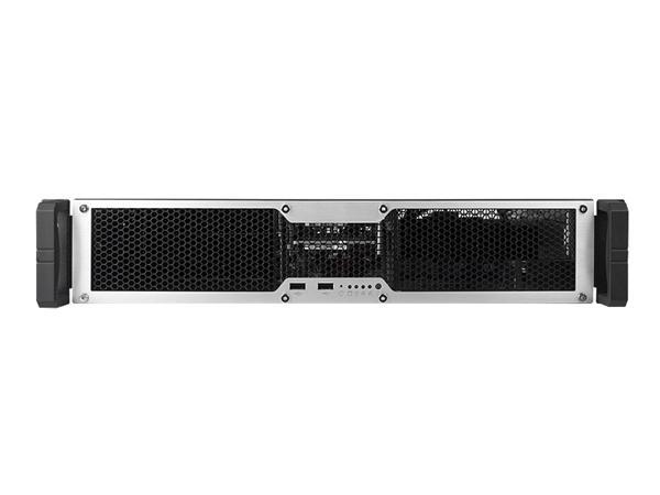 "ChenbroRM13604T3-G, 19"" rack 1U, Black, low profile 650W/redundant"