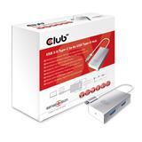 Club3D USB-C to 4x USB Type-A Hub + rýchlonabíjanie