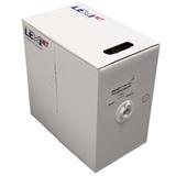 CNS kabel UTP, Cat5E, drát, PVC, box 305m - šedá