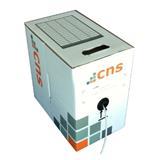 CNS kabel UTP, Cat5E, drát, PVC, Eca, box 100m - šedá