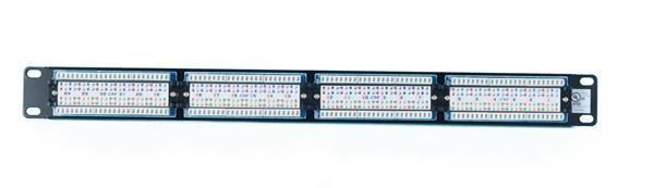 CNS patch panel 24port Cat5E, UTP, blok 110, 1U, čierny