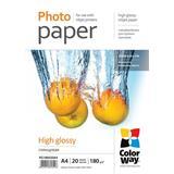 ColorWay Fotopapier Vysoko lesklý 180g/m, 20ks, A4