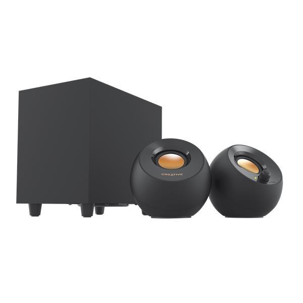 Creative PEBBLE PLUS stolné 2.1 reproduktory so subwooferom a USB napájaním, čierne