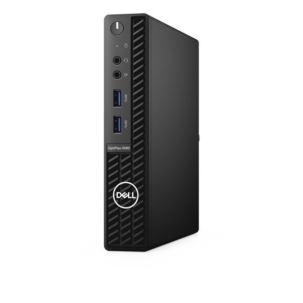 Dell Optiplex 3080 MFF/Core i5-10500T/8GB/256GB SSD/Intel UHD 630/TPM/WLAN + BT/Kb/Mouse/W10Pro/3Y BS