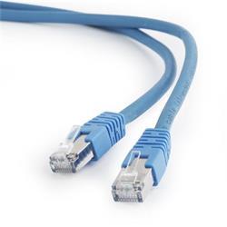 Gembird patch kábel S/FTP Cat. 6A LSZH, 0.25 m, modrý