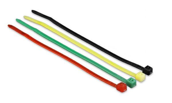 Gembird Samozatváracie nylonové káblové pásky,100 mm x 2.5 mm, set 4 farieb, vrecko 100 ks