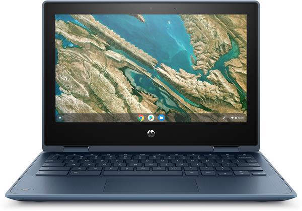 HP ChromeBook x360 11 G3, Celeron N4120, 11.6 HD/Touch, UMA, 8GB, 64GB, Chrome, 1-1-0, Blue