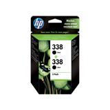 HP No338 Ink Cart/bk with Vivera Ink 2pk