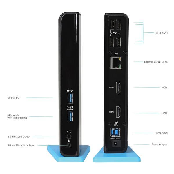 i-tec USB 3.0/USB-C Dual HDMI Docking Station