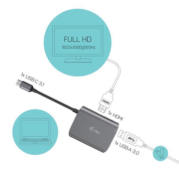i-tec USB-C Metal HDMI a USB adapter