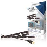 König USB TV náladové osvetlenie, stmievateľné, 2x 50 cm, 1x 90 cm, RGB