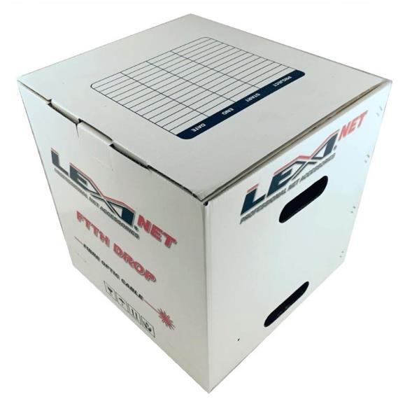 LEXI opt. kabel 4x9/125 DROP FTTx, SM, G.657A1, LSOH, UV stabilný, samonosný, metráž, čierny