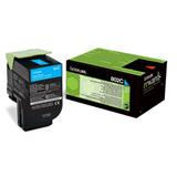 Lexmark 80C2SC0 CX310,CX410,CX510, Cyan Toner Cartridge 2K