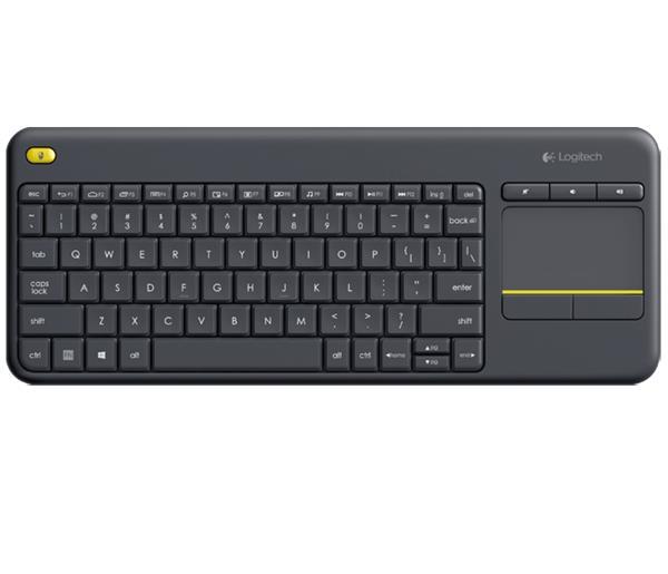 Logitech® K400 Plus Wireless Touch Keyboard Black, SK / CZ