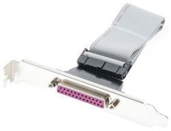 LPT port + kábel (300mm) - vyvedenie parallel. portu z MB, zadná záslepka do PC