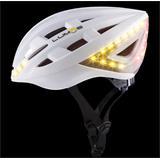 LUMOS Smart Cyklo Prilba - 54-62cm, integrované smerové a brzdové svetlá, akumulátor- biela