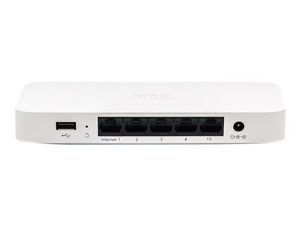 Meraki Go - 5 Port Security Gateway Router - EU Power