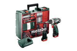 Metabo PowerMaxx BS Basic Set Mobilná dielňa - 10,8-Voltová Akumulátorová vŕtačka so skrutkovačom + príslušenstvo