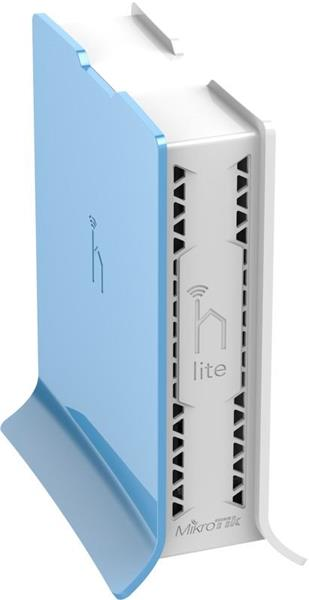 MIKROTIK RouterBOARD hAP lite (tower) 941-2nD-TC + L4 (650MHz; 32MB RAM, 4xLAN switch, 1x 2,4GHz plastic case, zdroj)