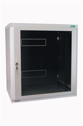 "MOELLER / EATON 19"" rozvádzač nástenný 2-D NWE 9U/510mm, skl.dvere, cylindr, šedý"