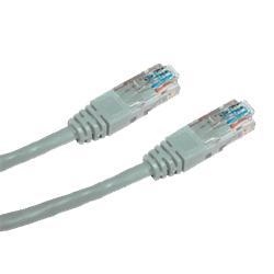 OEM patch kábel Cat5E, UTP - 7m , šedý