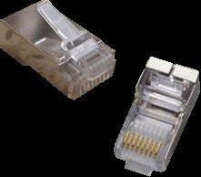 OEM STP konektor OPTIX 8P8C, Cat5E, lanko, balenie 100ks