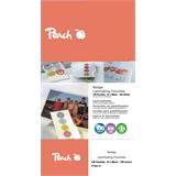 Peach Laminating Pouch Badge (67x99mm), 125mic