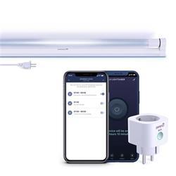 Perenio germicídna lampa UV Lightsaber, sada lampa + inteligentná zásuvka, UV žiar., tvorba ozónu, rádius do 30m2, biela